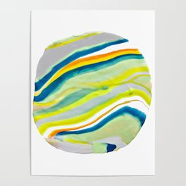 Earth Lines Marbling, Unite Poster