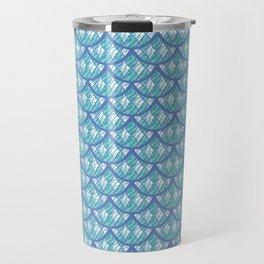 Mermaid Scales Pattern - Teal and Purple Palette Travel Mug