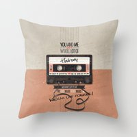 history Throw Pillows featuring History by Art of Nanas
