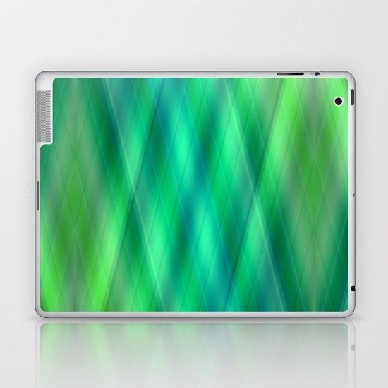 Zig Zag pattern light blue and green 2 Laptop & iPad Skin