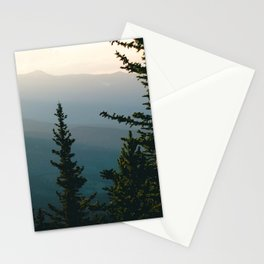 Silhouetted Mountains Stationery Cards