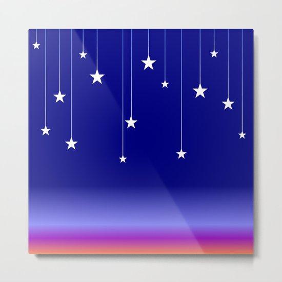 Falling Stars Metal Print