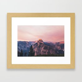 Purple Yosemite Valley in California United States of America Framed Art Print