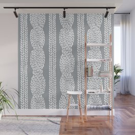 Cable Grey Wall Mural