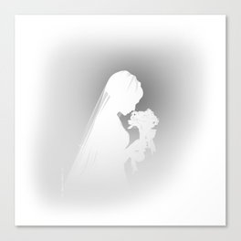 Wedding Day White Canvas Print
