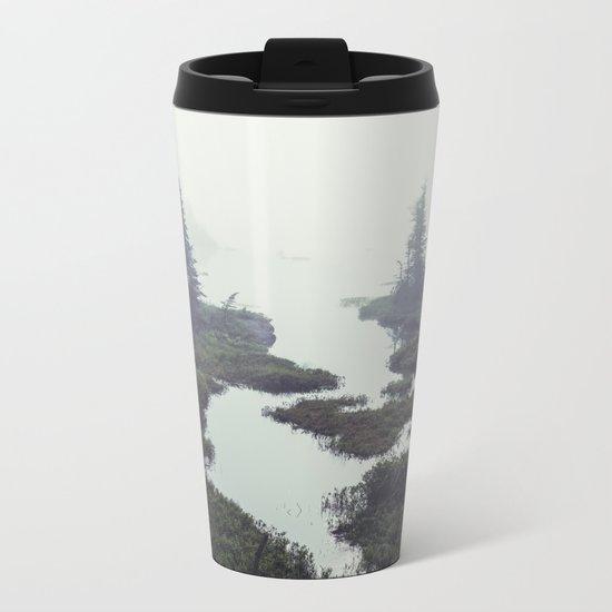 Moonlit Fogscape Metal Travel Mug
