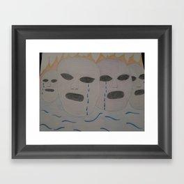Crying for the world Framed Art Print
