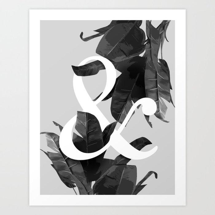 Botanical Ampersand Art Print