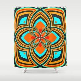 Spiral Rose Pattern B 2/4 Shower Curtain