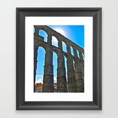 Aqua Arches Framed Art Print