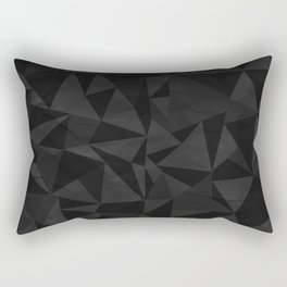 Dirty Dark Geo Rectangular Pillow