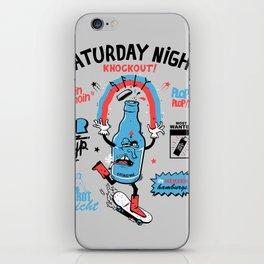 drunken astra by s-fly iPhone Skin