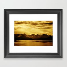 The Bay and Mountains Near Turnagain Arm, Alaska Framed Art Print