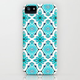 Turquoise Moroccan tile iPhone Case