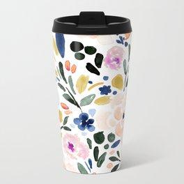 Sierra Floral Metal Travel Mug