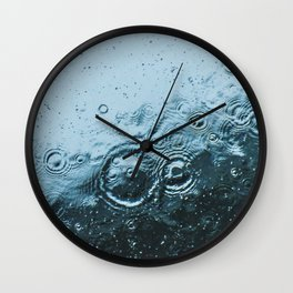 Raindrops Wall Clock