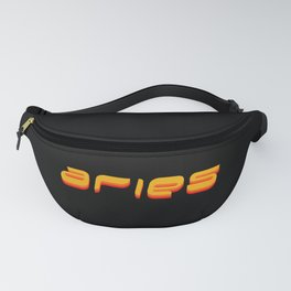Aries (Orange Text) Fanny Pack