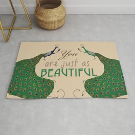 You are Just as Beautiful Rug