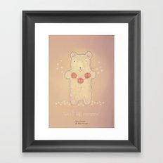 Christmas creatures- The Loving Bear Framed Art Print