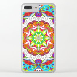 Drawing Floral Doodle G5B Clear iPhone Case