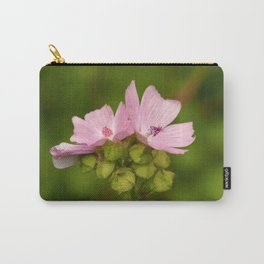 Prairie Mallow Flowers and Seed Pods Carry-All Pouch