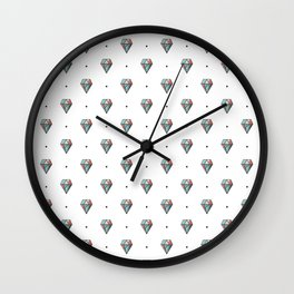 Diamonds are forever Pattern 1 Wall Clock