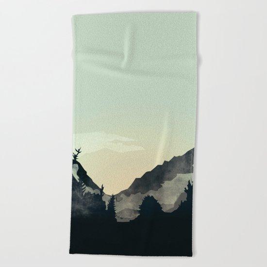 Misty Mountain Beach Towel