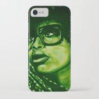 erykah badu iPhone & iPod Cases featuring badu?!-green by noblackcolor