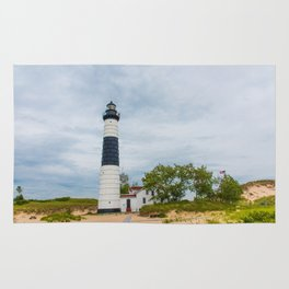 Big Sable Point Lighthouse - Lake Michigan Rug