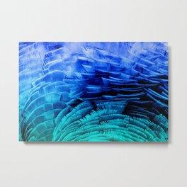 RUFFLED BLUE Metal Print