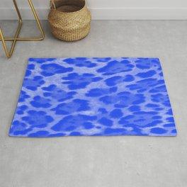 Blue Cheetah Rug