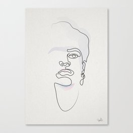 Half-a-Frida: One line Canvas Print