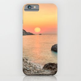 The sunset at the famous village Agios Nikitas in Lefkada, Greece iPhone Case