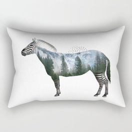 Zebra World Rectangular Pillow