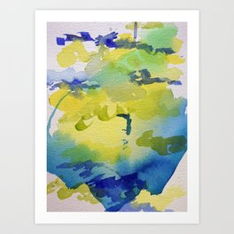 I dream in watercolor C Art Print