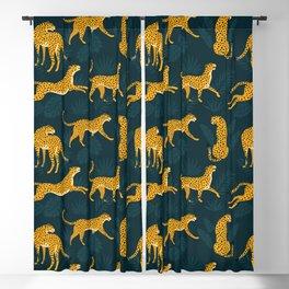 Leopard pattern Black Blackout Curtain