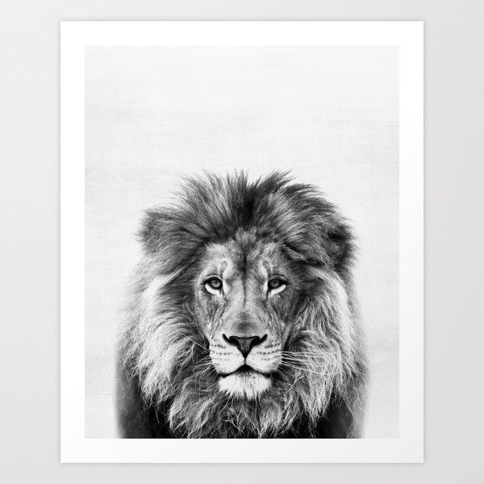 Lion, Animal, Minimal, Trendy decor, Nursery, Interior, Wall art, Photo Kunstdrucke