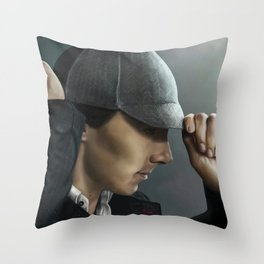 Sherlock and his deerstalker Throw Pillow