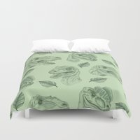 dino Duvet Covers featuring Dino Damage by scoobtoobins