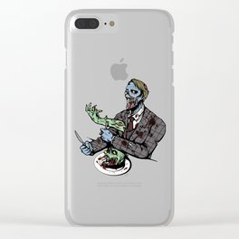 Hannibal, The Cannibal Zombie Clear iPhone Case
