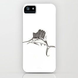 Surfing the fish iPhone Case