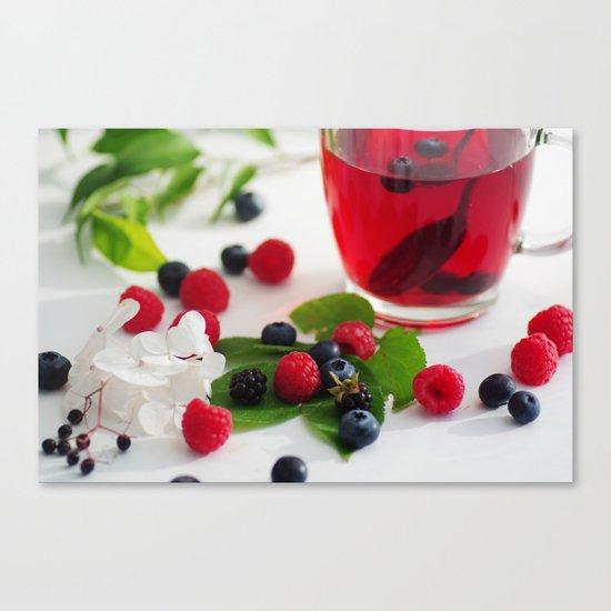 Red Berries Tea Canvas Print
