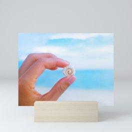 Spiral Shell in Krabi Tup Island Mini Art Print