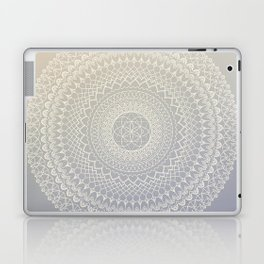 Lavender Cream Mandala Laptop & iPad Skin