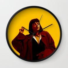 Mia Wallace - Yellow Wall Clock