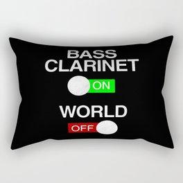 Bass Clarinet On World Off Rectangular Pillow