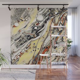 Abstract Aerial Cityscape - Acrylic Art by Fluid Nature Wall Mural