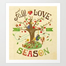 Fall in Love with the Season Art Print