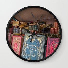 Books Along the Seine - Paris, France Wall Clock