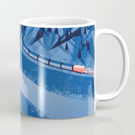 Camping in the moonlight at night while watching the train Coffee Mug